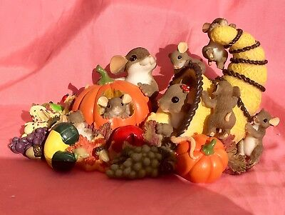 """Charming Tails - Mouse - """"We Have Plenty To Be Thankful For"""" - NEW"""