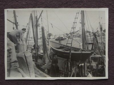 FISHING BOATS AT THE DOCKS, PROVINCETOWN MA Vintage 1951 PHOTO #3