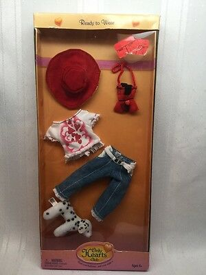 Doll Clothes Only Heart Club Outfit Jeans Heart Shirt Hat Purse Shoes 00207 B5