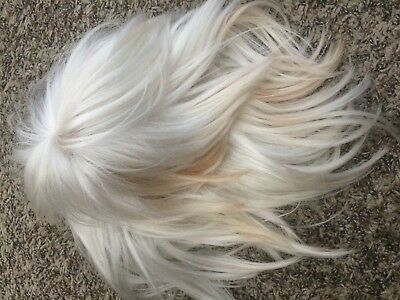 Blush White Choppy Layers Wig, Storm Black Cat cosplay