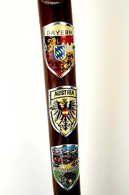 Germany Cane With  Eleven European Country Metal  Badges - Elegance