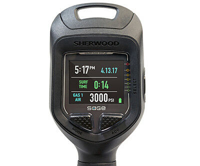 SHERWOOD Sage Air Integrated Computer Console - Scuba Diving Computer