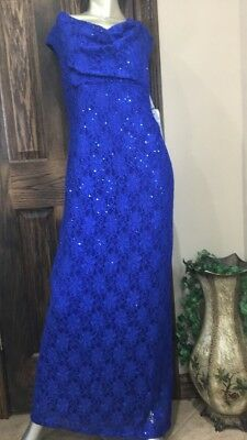 Women's Formal Dresses Connected Size 14P Blue Bridesmaids ~ Mother of the Bride