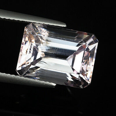 9.21 Ct Unique Untreated Soft Pink Natural Kunzite Emerald Cut Loose Gemstones