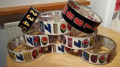 Fruit machine reels man cave retro lampshade use? Craft upcycle supplies