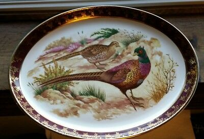 Vintage Brooks Brothers Pheasant Thanksgiving Fall Platter BEAUTIFUL