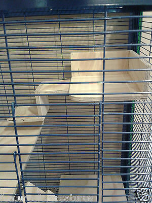 Pine Plywood Corner Shelf With Sides & 2 Step Ladder Cage Of Rat,degu,chinchilla