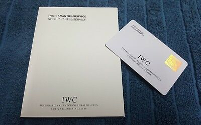 IWC Booklet and Guarantee Card