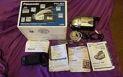 Panasonic VHSC Camcorder PV-L452 with original box EVERYTHING YOU SEE INCLUDED