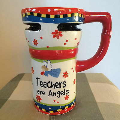 Ganz Teachers are Angels collectible tall coffee mug cup