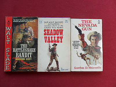 VTG Western Book Lot Gordon Shirreffs The Nevada Gun, Scott Rattlesnake Bandit