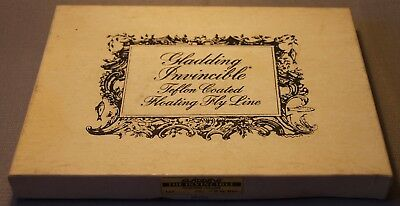 Vintage Fishing Gladding Invincible Teflon Floating Fly Line In Box Tin Rare +