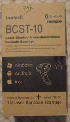 Inateck BCST-10 Laser Bluetooth one-dimensional Barcode Scanner #2