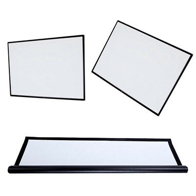 60'' Inch Portable 16:9  Matte Projector Projection Screen Pull Down Home Movie