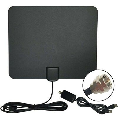 Indoor HD Flat Antenna 25dB TV Fox UHF VHF Scout 13ft/4m Cable 50 Miles Range