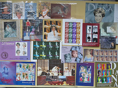 1961-1997 Princess Of Wales Diana Collection : Her History In Stamps Don't Miss!