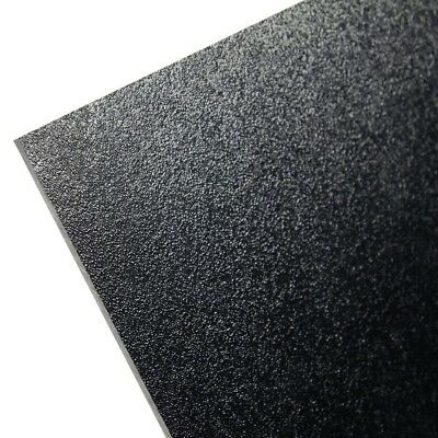 "ABS Black Plastic 1/4"" x 8"" x 12"" .250"" Haircell 1 Side"