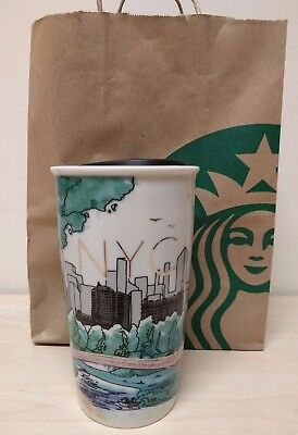 Starbucks Central Park Special Edition Travel Double Wall Ceramic Mug 12 oz, NYC