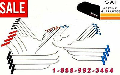 30pc PDR Paintless Dent Repair Removal Tool set Free Shipping DVDs MADE IN USA