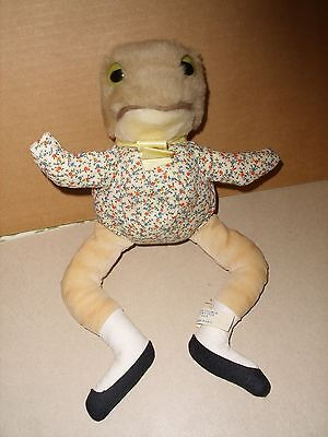 VINTAGE EDEN BEATRIX POTTER Frog Jeremy Fisher Peter Rabbit PLUSH Stuffed Animal