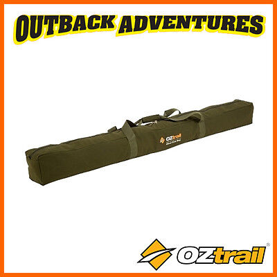 Oztrail Canvas Steel Pole Bag - Camping Storage With Handles