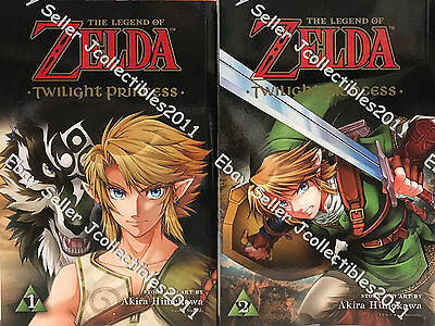 The Legend of Zelda Twilight Princess (Vol. 1-2) English Manga Graphic Novels
