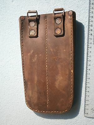 ARMY LEATHER CASE HOLSTER KNIFE ? GUN PISTOL ? MILITARY Ammunition Ammo Pouch ?