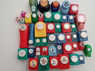 Bulk lot of mixed craft paper punches