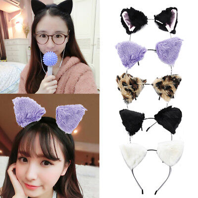 UK SELLER Cute Cat Fox Ears Headband Anime Cosplay Costume Party Accessories