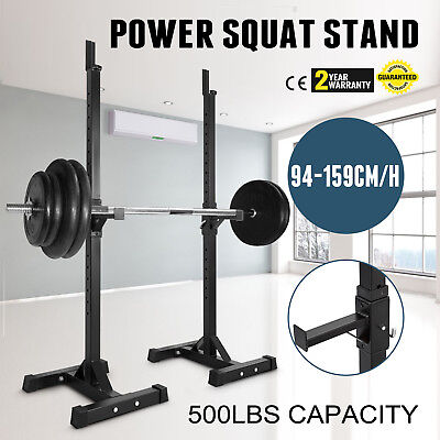 Squat Stands Power Rack Weight Lifting Home Gym Workout Fitness Equipment Gear