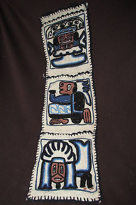 Native American Indian Mayan Aztec H/ Made WALL HANGING Letter Note Holder 53CmL