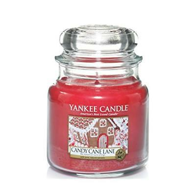 (TG. 10x9.8x13.9 cm) Yankee candle 1308385E Candy Cane Lane Candele in giara med