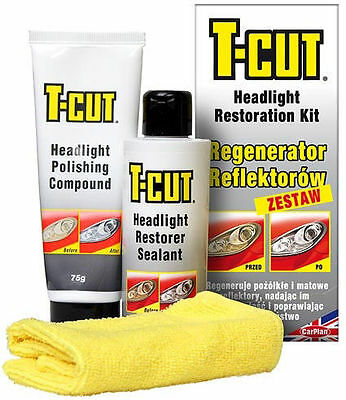 T-Cut Headlight Restoration Kit Polishing Compound Restorer Sealant Headlamp NEW