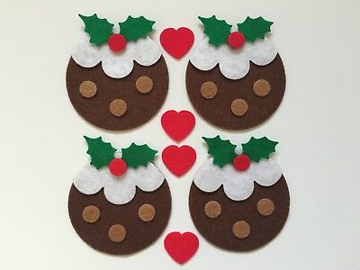 Felt Christmas pudding shapes for crafts