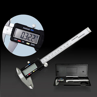 "6"" 150mm Electronic Digital Vernier Caliper Stainless Steel Micrometer Guage LCD"