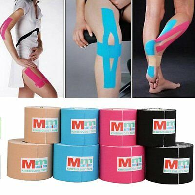 1 Roll 5mx5cm Kinesiology Sports Muscles Care Elastic Physio Therapeutic Tape TY