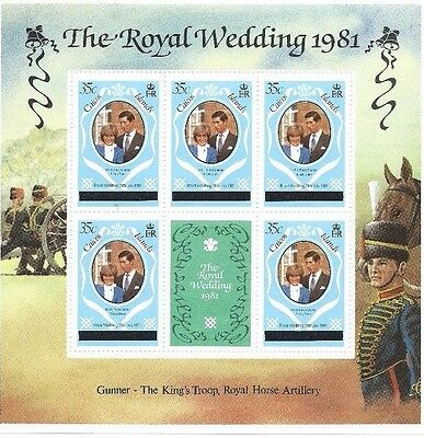 Caicos Islands - Royal Wedding 1981 - 3 Souvenir Sheets MNH