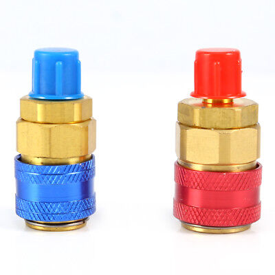 R134a Auto Car Quick Coupler Connector Brass Adapters Low High Side AC Manifold