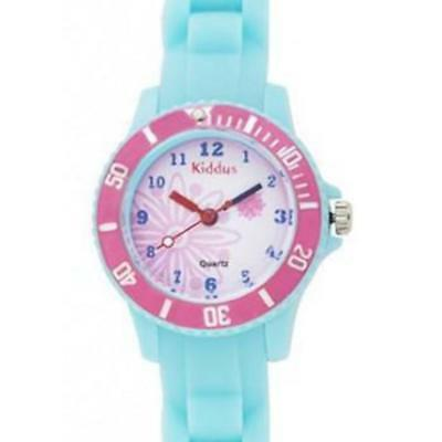 Kiddus - Sporty Turquoise Flower Watch