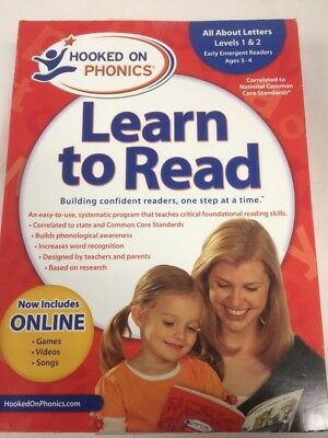 Hooked on Phonics Learn to Read - Level 1 & 2: All About Letters (Ages 3-4)