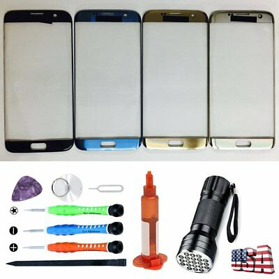 For Samsung Galaxy S7 Edge G935 Front Glass Replacement Screen UV Light Tool Kit