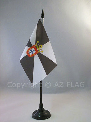 CEUTA  TABLE FLAG 4'' x 6'' - AUTONOMOUS CITY OF CEUTA - SPAIN DESK FLAG 15 x 10
