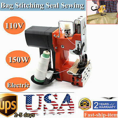 110V Industrial Portable Electric Bag Stitching Closer Seal Sewing Machine USA