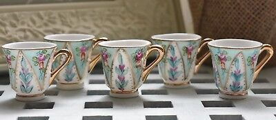 Set Of Five Mini Tea Cups The Leonardo Collection Shabby Chic
