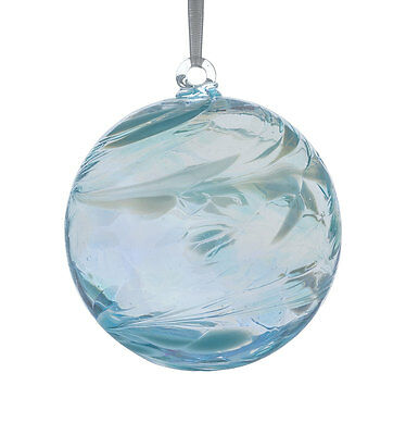 Glass Friendship or Witches Ball, 10cm Aquamarine By Sienna Glass