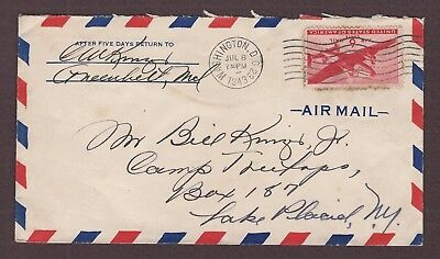 mjstampshobby 1943 US Air Mail Vintage Cover Used (Lot4901)