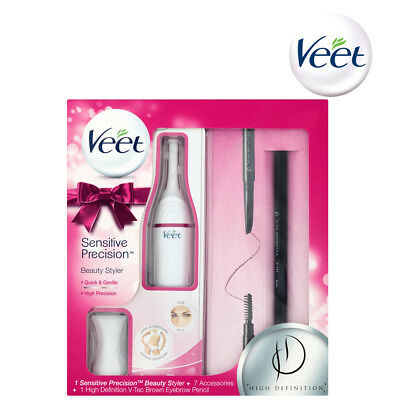 Veet Sensitive Precision Beauty Styler Gift Set For Women With 7 Accessories