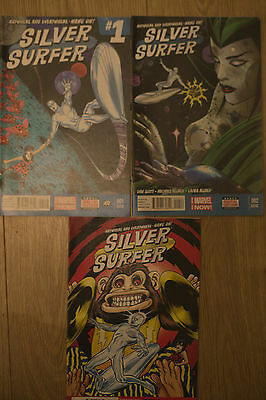 silver surfer #1#2#3