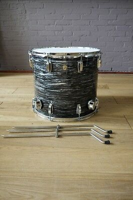 """18""""x16"""" Ludwig Legacy Classic MapleFloor Tom (vintage black oyster) made in USA"""
