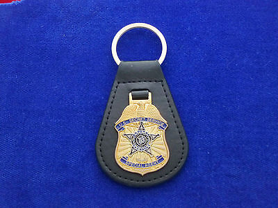 US Secret Service Leather Key Ring #US1